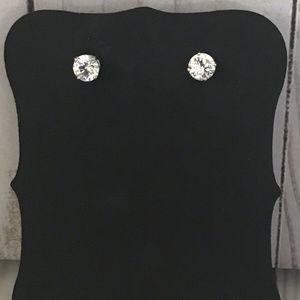 Jewelry - Sterling Silver Cubic Zirconia Stud Earrings